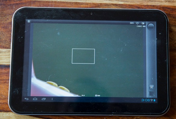This is my old Adroid tablet running EOS Remote connected to my 70D