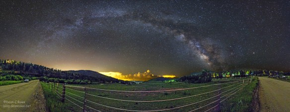 Milky Way over Deer Creek Valley, Bailey, Colorado
